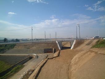 平成20年度  矢作川美矢井橋管理用通路設置工事