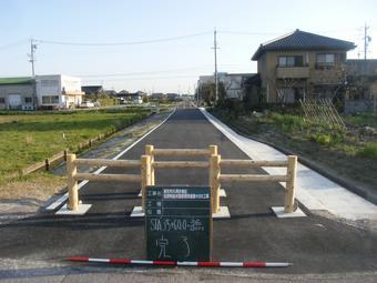 北野幹線水路管理用道路工事